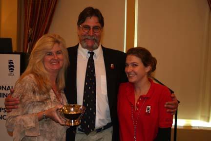 Cindy Buffa (LYNX), Bert Rogers and Erin Short (ASTA)