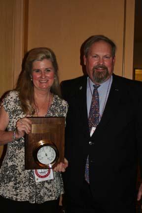 LYNX Educational Foundation-Cindy Buffa and ASTA Chair Mike Rauworth