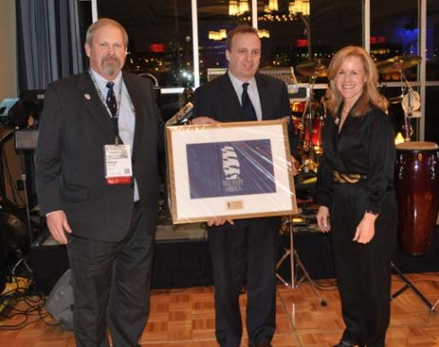 Halifax, NS wins 2012 Port of the Year. Colin MacLean of WDCL (center) with M. Rauworth and P. Lock