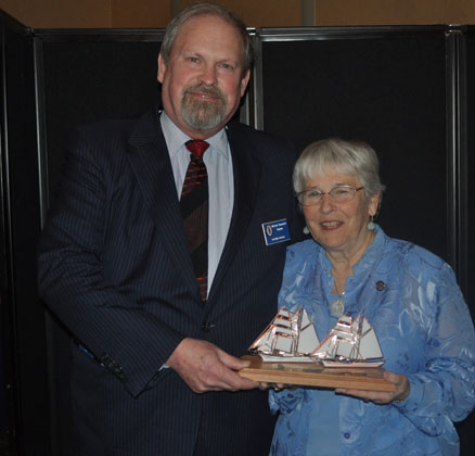 Lifetime Achievement Award presented to Nancy Richardson by Michael Rauworth