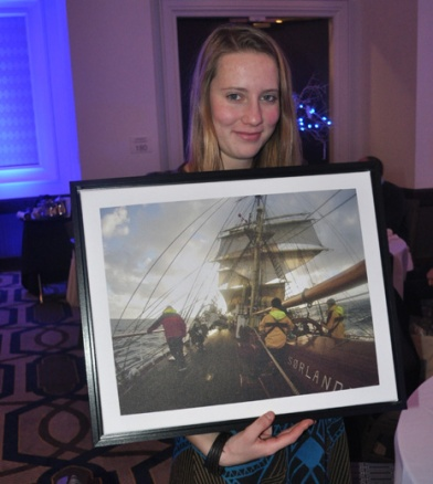 Anna Spring and her award-winning photograph taken on board Sorlandet