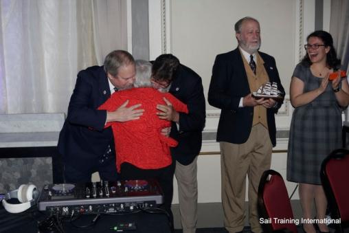 N Richardson gets a hug